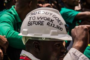 Klare Forderung: 12.500 Rand Mindestlohn