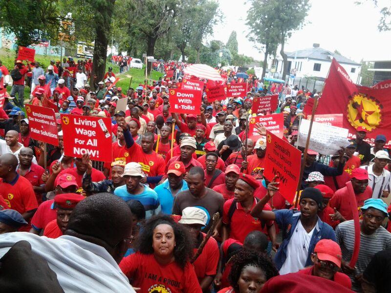 Streikende Massen