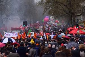 9. April 2016: Eine der vielen Demonstrationen gegen das Loi El Hhomri